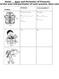 Area and Perimeter Christmas Present Activity