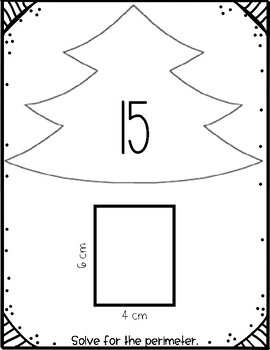 Area and Perimeter Christmas Trees Scoot Activity
