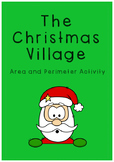 Area and Perimeter Christmas Village activity