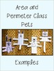 Area and Perimeter Class Pets