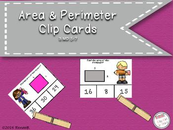 Area and Perimeter Clip Cards