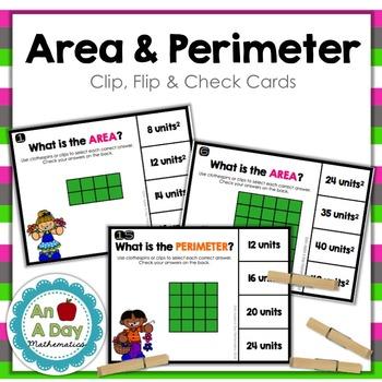 Area and Perimeter: Clip, Flip, and Check