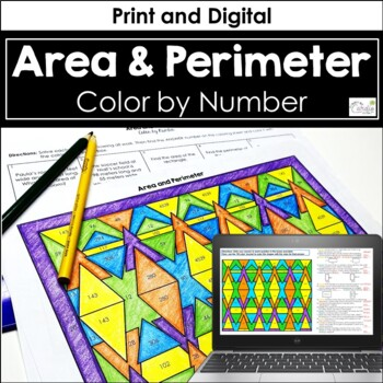 Area And Perimeter Coloring Worksheets Teaching Resources Tpt