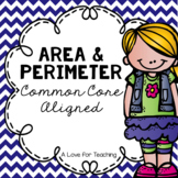 Area and Perimeter No Prep {Common Core Aligned + Digital Task Cards}
