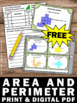 FREE Area and Perimeter Task Cards, Area and Perimeter Game and Activities