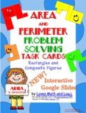 Area and Perimeter Composite Shape Task Cards  3.MD.C.7.D and 3.MD.D.8