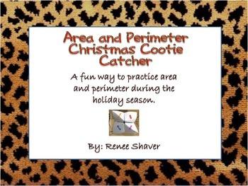 Area and Perimeter Cootie Catcher