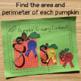 Area and Perimeter Craft - Pumpkin Growing Contest