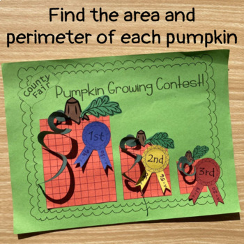 Area and Perimeter Craft - Pumpkin Growing Contest