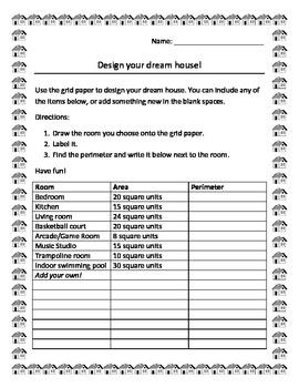Area and Perimeter: Design your dream house!