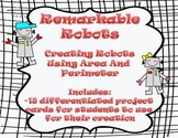 Area and Perimeter - Differentiated Robot Craftivity - Common Core Aligned