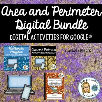 Area and Perimeter Digital Bundle for Google®