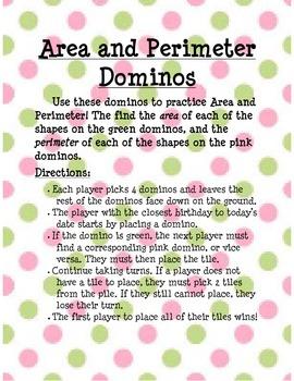 Area and Perimeter Dominos