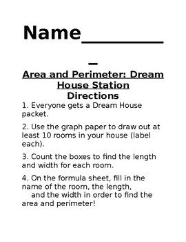 Area and Perimeter- Dream House Activity