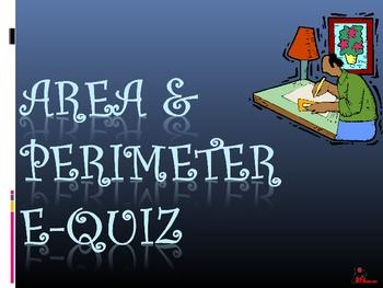 Area and Perimeter E-Quiz