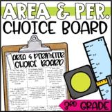 Area and Perimeter Enrichment Activities - Math Menu, Choice Board