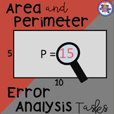 Area and Perimeter Error Analysis 4.MD.A.3
