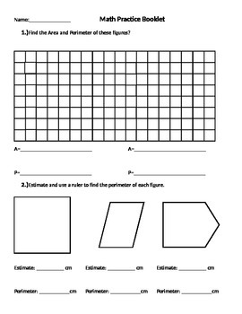Area and Perimeter, Estimating, Measuring, Grid paper, Dot paper, Geoboard