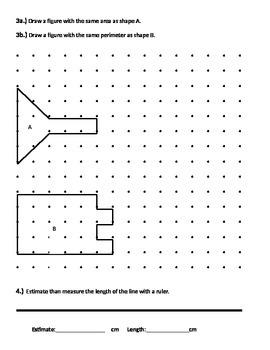Area and Perimeter, Estimating, Measuring, Grid paper, Dot paper, Geoboard