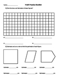 Area and Perimeter, Estimating, Measuring, Grid paper, Dot