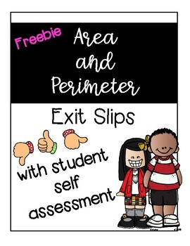 Area and Perimeter Exit Slip Freebie