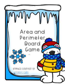 Area and Perimeter File Folder Board Game