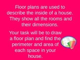 Area and Perimeter Floor Plan