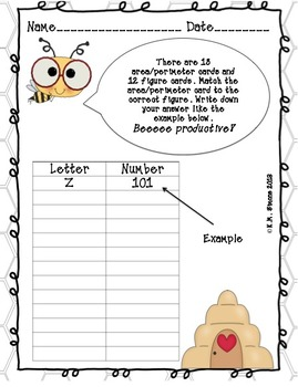 Area and Perimeter Folder Game (Self-Checking/Worksheets)