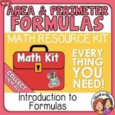 Area and Perimeter Formulas and Foundations  Math Kit plus
