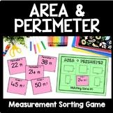 Area and Perimeter Game, 4th Grade Measurement Game, Math Center, Montessori
