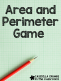 Area and Perimeter Game with Grid Paper and Dice