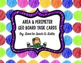 Area and Perimeter Geo Board Task Cards