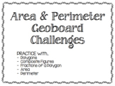 Area and Perimeter Geoboard Challenges