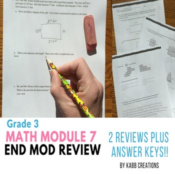 Area and Perimeter Grade 3 End Mod 7 Reviews & Answer Keys