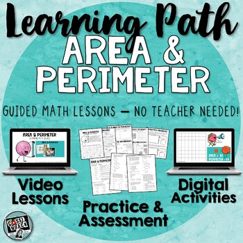 SALE! Area and Perimeter Guided Math with Videos, Digital Activities, and Quiz