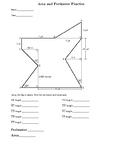 Area and Perimeter Homework