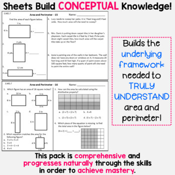 Area and Perimeter Homework  or Area and Perimeter Math Centers for 3rd Grade