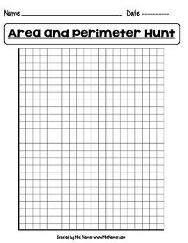 Area and Perimeter Hunt Worksheet