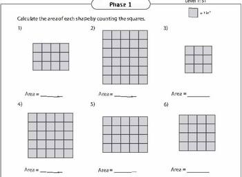 Area and Perimeter Individual Work/Math Center