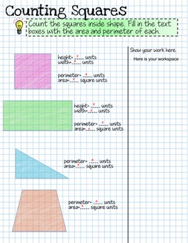 Area and Perimeter Interactive Digital Notebook for Google Drive®