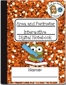 Area and Perimeter Interactive Digital Notebook for Google Drive