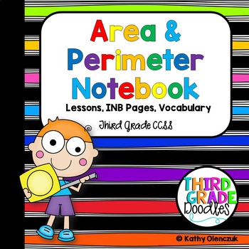 Area and Perimeter Interactive Notebook & Lessons -- Third Grade CCSS