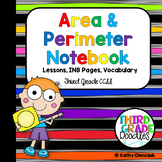 Area and Perimeter Interactive Notebook & Lessons -- Third