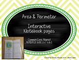 Area and Perimeter Interactive Notebook Pages
