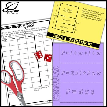 Area and Perimeter Interactive Notebook Set