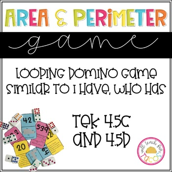 Area and Perimeter Looping Game