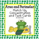 Area and Perimeter Match Up, Concentration and Task Cards!