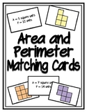 Area and Perimeter Matching Cards