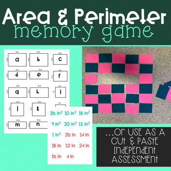Area and Perimeter Matching Game
