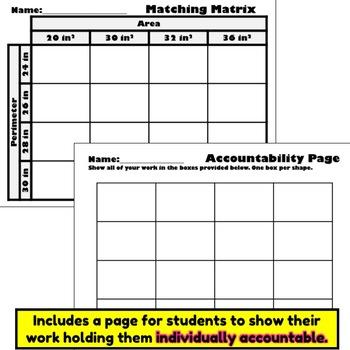Area and Perimeter Matching Matrix